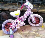 27th Jul 2020 - Several of these little decorated bikes were in the sreet advertising a craft fair