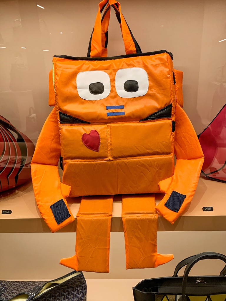 A robot bag with a heart.  by cocobella