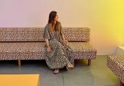 28th Jul 2020 - Floral dress on floral sofa.