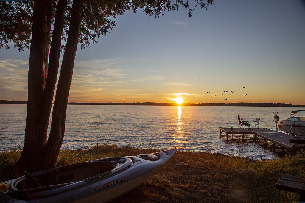 Kayak Sunrise Morning  by pdulis