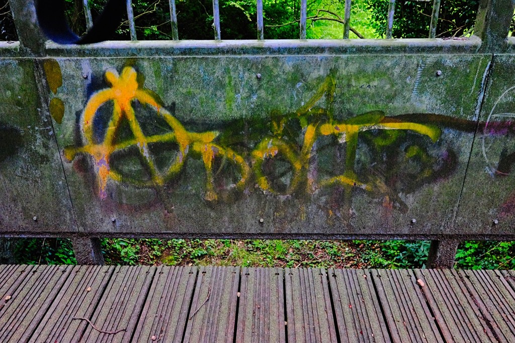 Footbridge Graffiti 1 by allsop