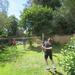 Back garden badminton