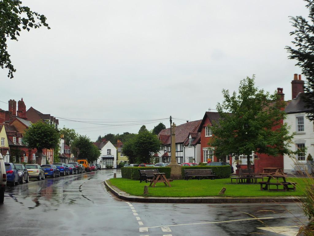 Wet Saturday village scene by speedwell