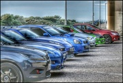 2nd Aug 2020 - Whilst we were lined up taking photos under the bridge the boy racers were lining up their cars!