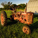 Old Tractor at Sunset