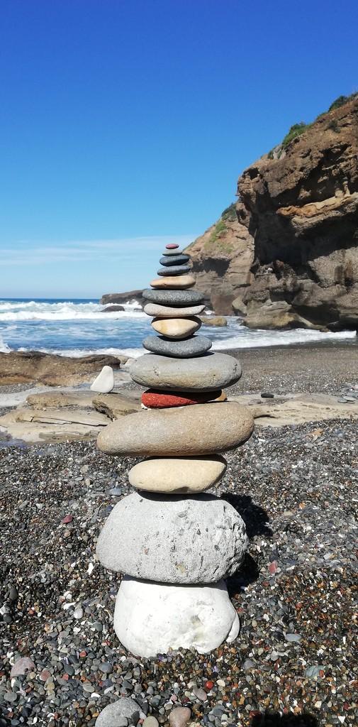 Stone stacking  by julianneovie