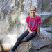 My daughter at Glade Creek Falls