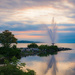 Barrie Fountain in Early Morning by mgmurray