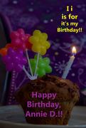 9th Aug 2020 - August Alphabet Words - It's Annie D.'s Birthday!!