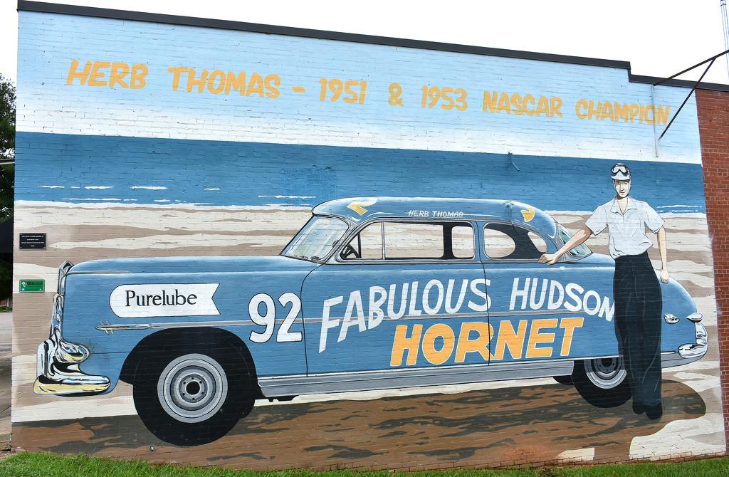 Hudson Hornet mural by homeschoolmom
