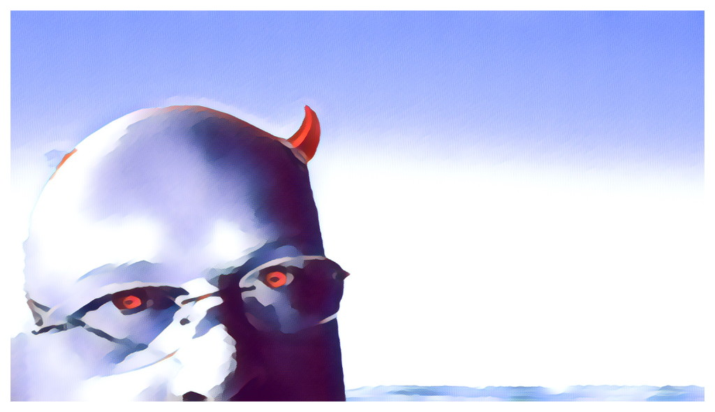 Water Colour Devil (II) by bankmann