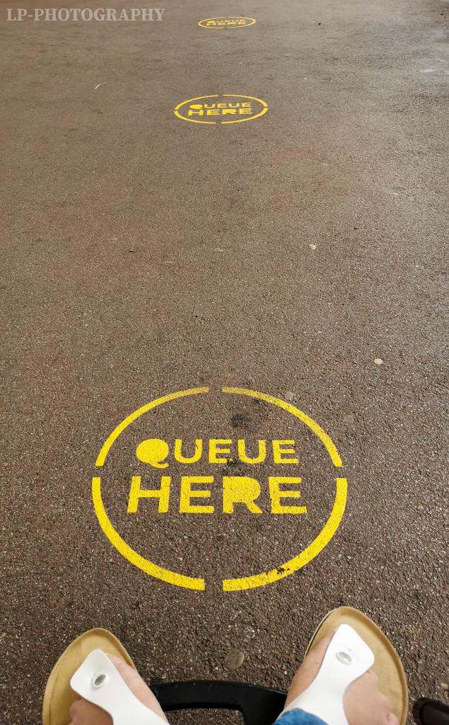 Queue Here by tiredpanda