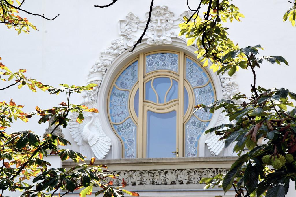 Ornate balcony by kork