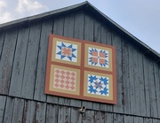 16th Aug 2020 - Quilt patterns on barns
