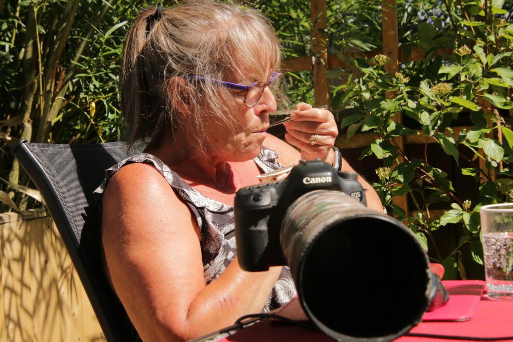 A photographer never relaxes. by shepherdman