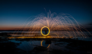 14th Aug 2020 - Spinning steel wool