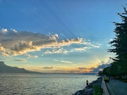 25th Aug 2020 - Sunset on Vevey.