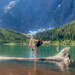 Yoga at Landslide Lake by kwind