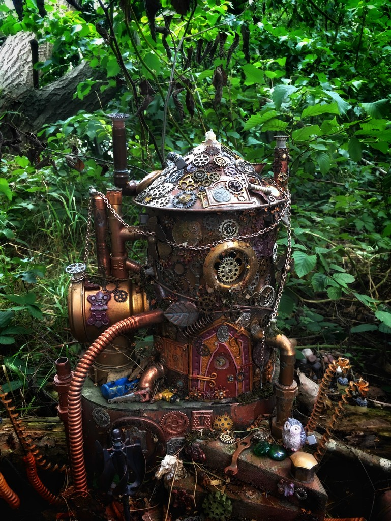 Steampunk fairy house by pattyblue