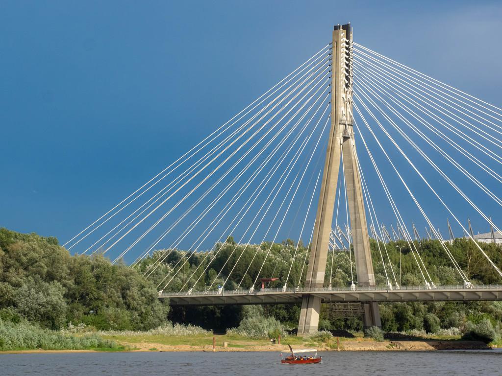 Bridge over the Vistula River by haskar