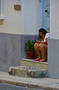28th Aug 2020 - GIRL ON A DOORSTEP