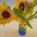 Impressionist Sunflowers