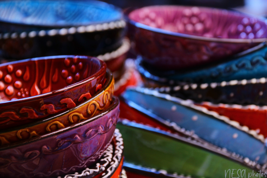 Colour full empty bowls  by nesaphotography