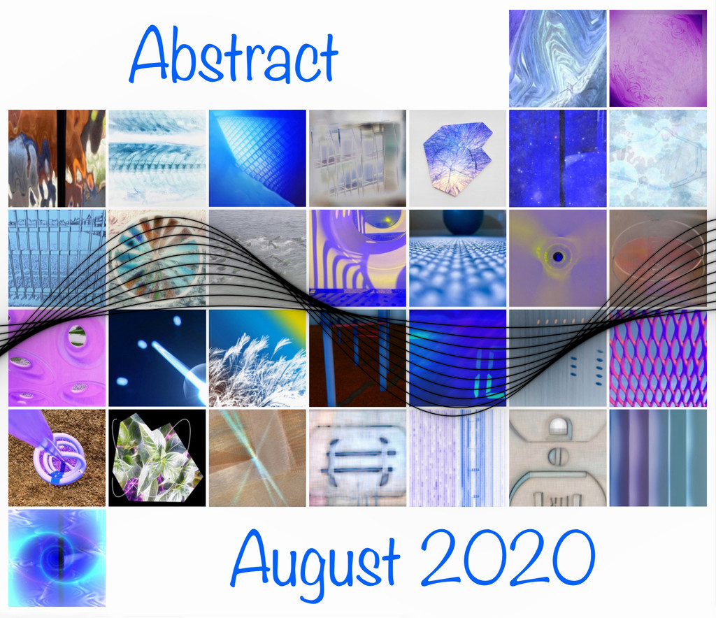 Abstract August Calendar by shutterbug49