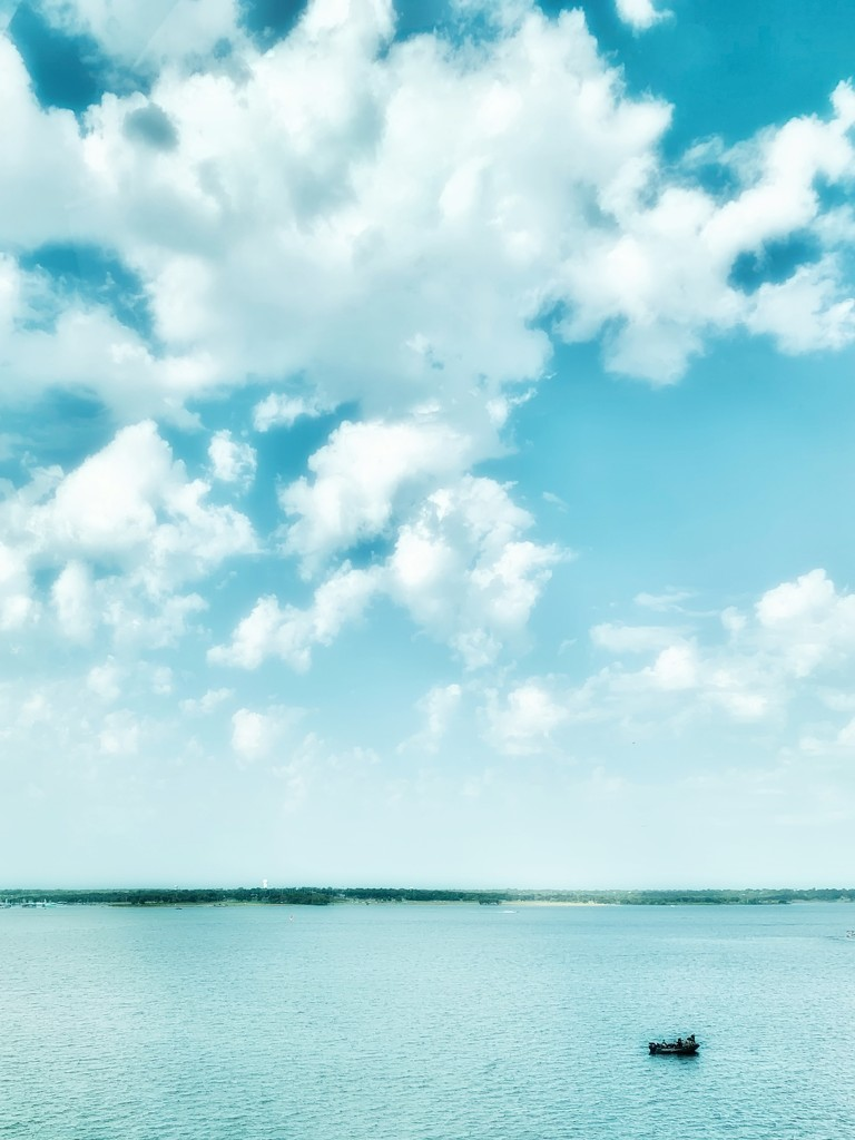 Clouds over Lake Grapevine by louannwarren