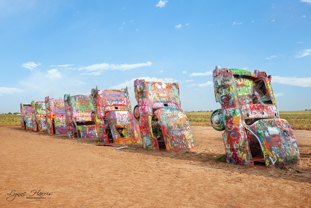 Cadillac Ranch in Amarillo by lynne5477