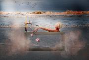 3rd Sep 2020 - bath time on the beach
