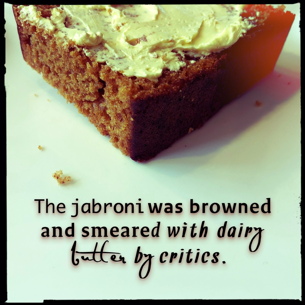 The jabroni was browned and smeared with dairy butter by critics by mastermek