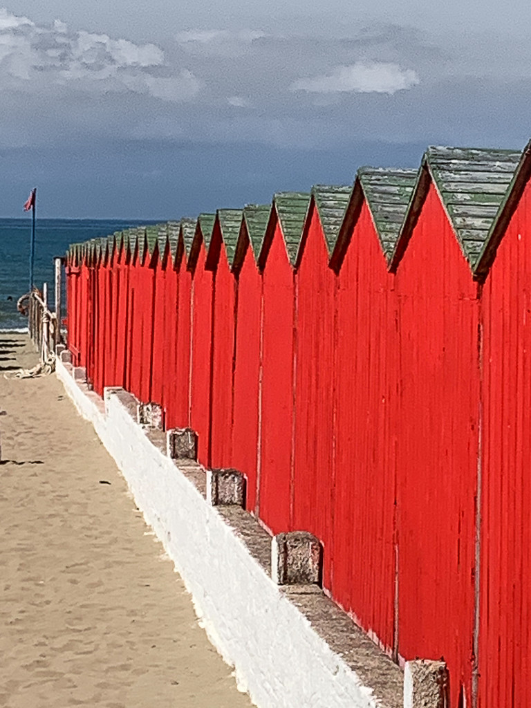 Red cabins by caterina