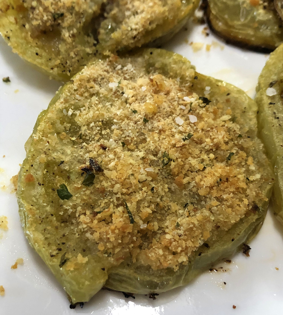 Baked green tomatoes by homeschoolmom