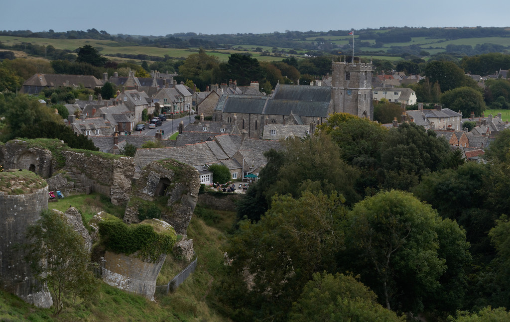 0906 - Corfe Castle Village by bob65