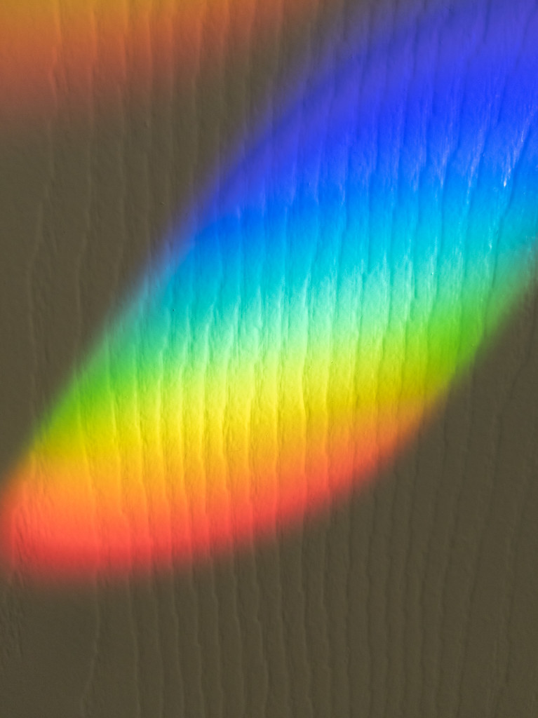 Rainbows on my wall by mallocarray