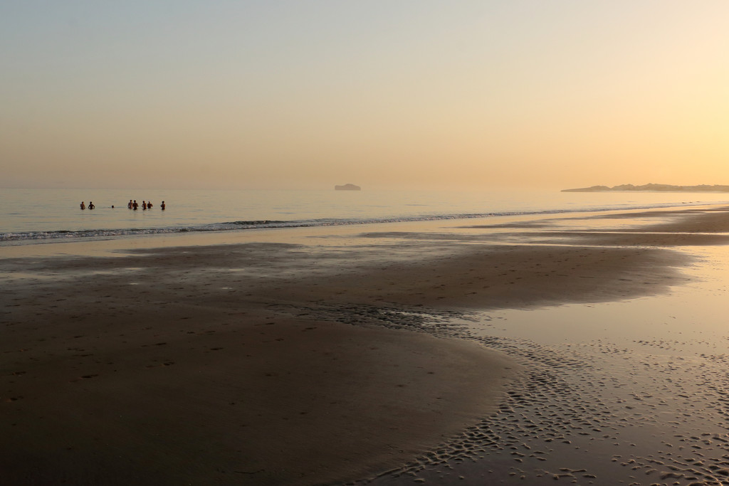 Swimming at sunrise by ingrid01