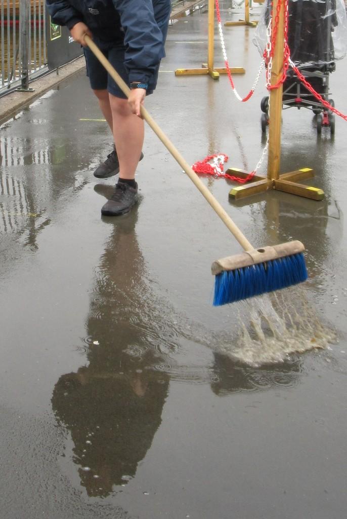 Megan sweeping by anniesue