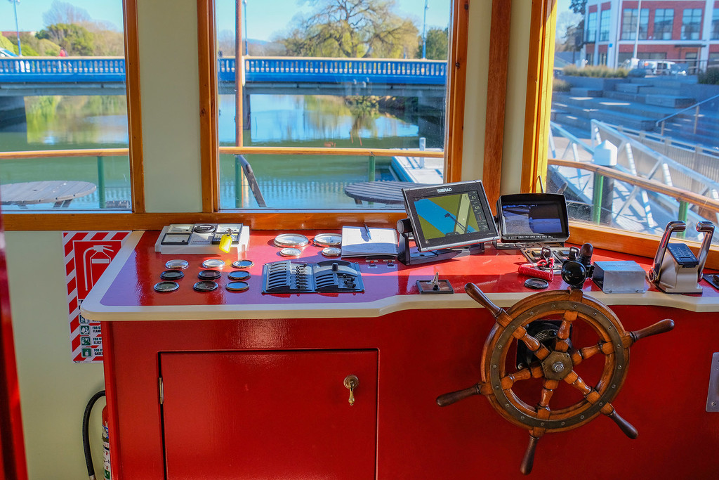 Wheelhouse of Kaiapoi River Queen by maureenpp