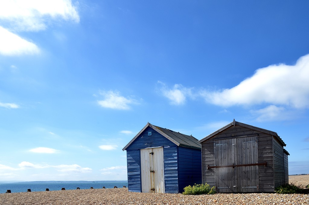 Beach Huts by wakelys