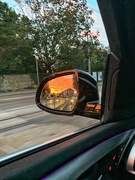 9th Sep 2020 - Sunset in the rear view.