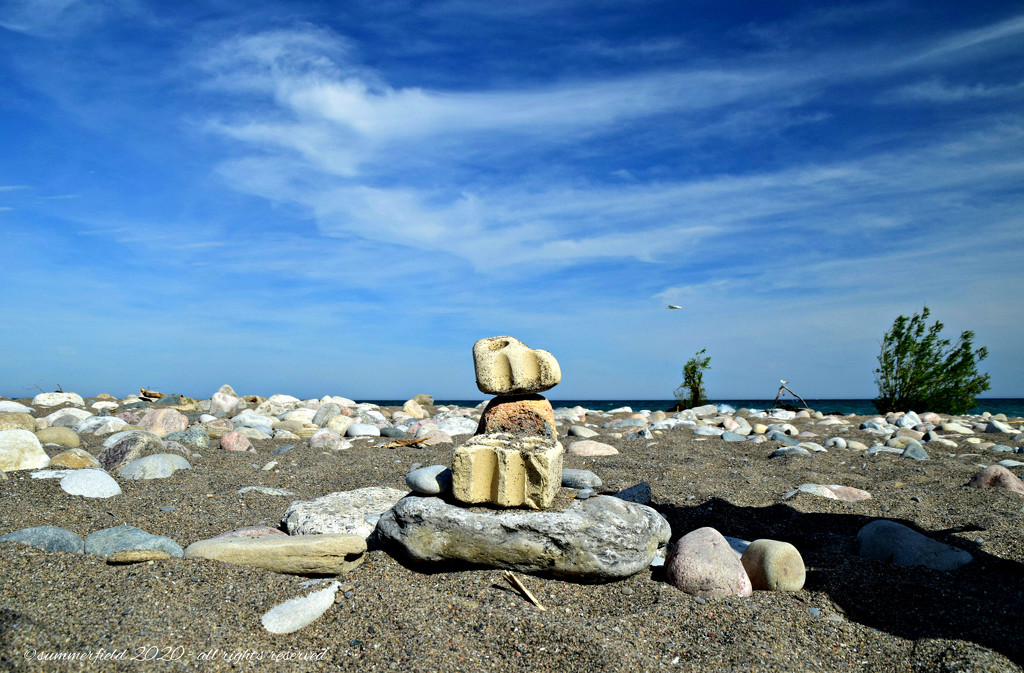 sand, stones and sky by summerfield