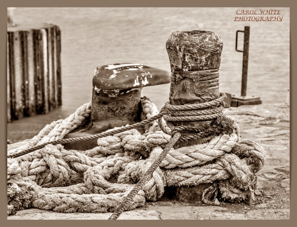 Hawsers And Mooring Posts by carolmw