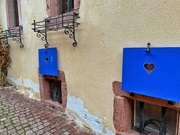 13th Sep 2020 - Hearts on blue shutters.