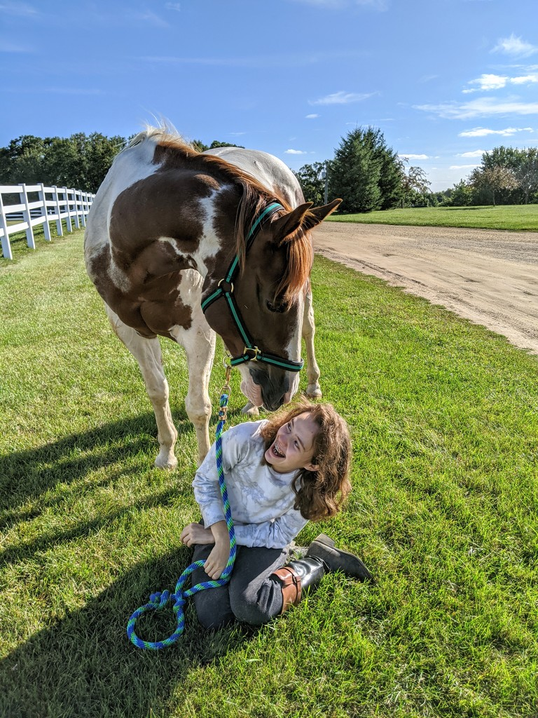 A girl and her horse  by caitnessa