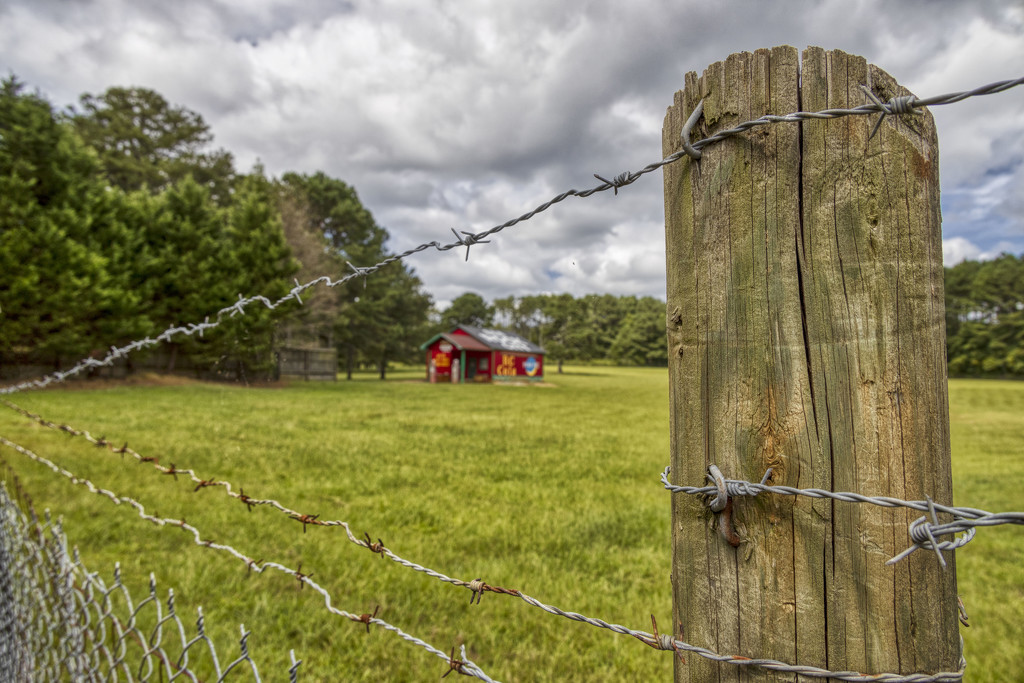 Barbed Wire Fence Post 9.13.20 by kvphoto