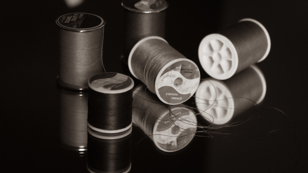 Spools of thread by randystreat