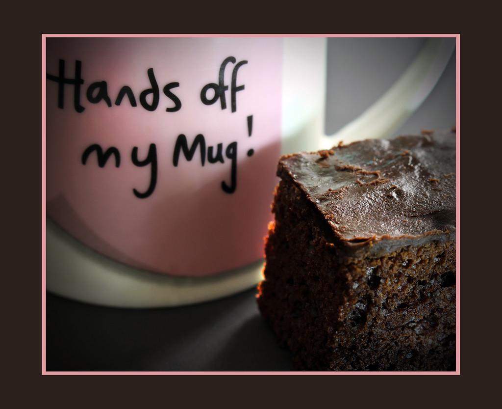 Hands of my mug ... ha ha and cake          (Best on black.) by sdutoit