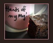 14th Sep 2020 - Hands of my mug ... ha ha and cake          (Best on black.)