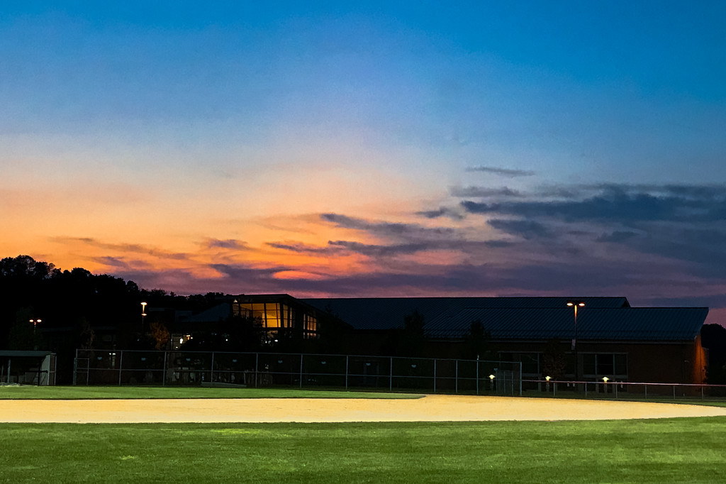 Sunset at the ball field by mittens